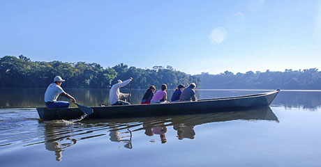 Boat trip on the Amazon River